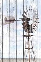 White Washed Windmill Fine Art Print