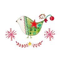 Christmas Dove I Fine Art Print