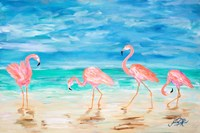 Flamingo Beach Fine Art Print