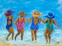Ladies on the Beach I Fine Art Print