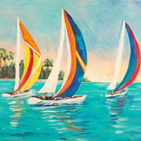 Sunset Sails I Fine Art Print