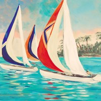 Sunset Sails II Fine Art Print