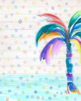 Funky Palm on Dots I Fine Art Print