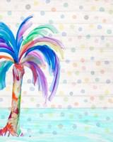 Funky Palm on Dots II Fine Art Print
