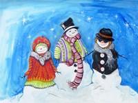 Snow Villagers Fine Art Print
