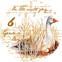 Six Geese a-Laying Fine Art Print