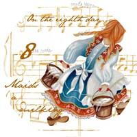Eight Maids a-Milking Fine Art Print