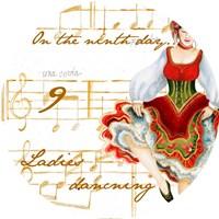 Nine Ladies Dancing Fine Art Print