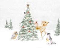Woodland Christmas II Fine Art Print