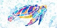 Vibrant Sea Turtle Fine Art Print
