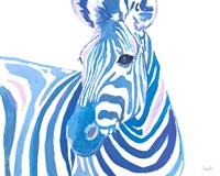 Vibrant Zebra Fine Art Print