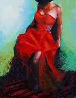 Lady in Red Fine Art Print