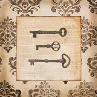 Vintage Keys II Fine Art Print