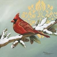 Winter Red Bird II Fine Art Print
