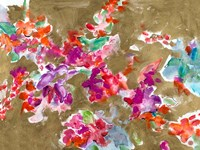 Spring Florals on Gold Fine Art Print
