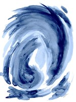 Blue Swirl I Fine Art Print