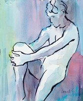Seated Male Figure Fine Art Print