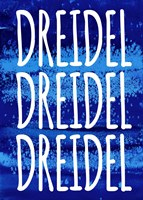Dreidel Blue Chant Fine Art Print