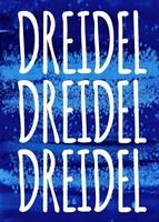 Dreidel Blue Chant Fine Art Print