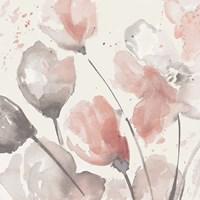 Neutral Pink Floral II Framed Print