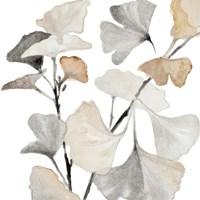 Neutral Ginko Stems I Fine Art Print