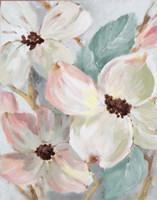 Silently Bloom Teal II Framed Print