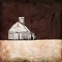 Neutral Brown Farm Fine Art Print