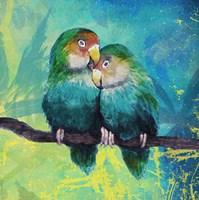 Tropical Birds in Love I Fine Art Print