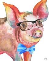 Nerdy Pig Fine Art Print