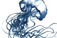 Jellyfish In The Blues Fine Art Print