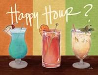 Happy Hour Drinks Fine Art Print