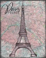 Map of Paris Fine Art Print