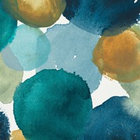 Teal Watermarks Square II Fine Art Print