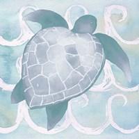 Azure Sea Creatures II Framed Print