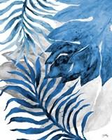 Blue Fern and Leaf II Fine Art Print