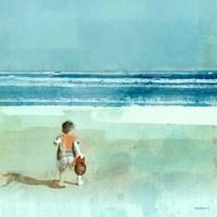 Beach Day Throwing Fine Art Print