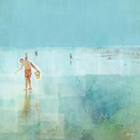 Beach Day Shelling Fine Art Print
