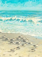 Sandpiper Beach Party Fine Art Print