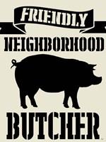 Neighborhood Butcher Fine Art Print