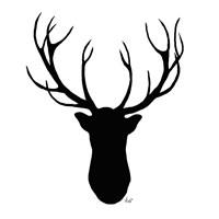 Deer Head Silhouette Fine Art Print