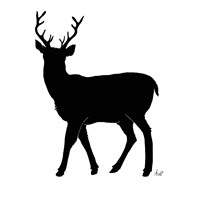 Deer Silhouette Fine Art Print