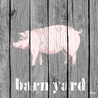 Barnyard Pig Fine Art Print