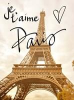 Je t'aime Paris Fine Art Print