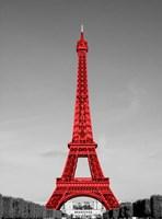 Eiffel Tower in Red Fine Art Print