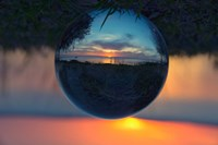 Sunset Droplet View Fine Art Print