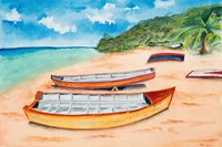 Canoes on the Beach Fine Art Print