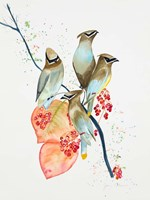 Birds on Branch Fine Art Print