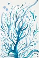 Blue Dancing Tree Fine Art Print