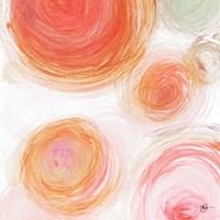 Orange Contempo Light Circles Fine Art Print