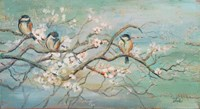 Spring Branch with Birds Fine Art Print